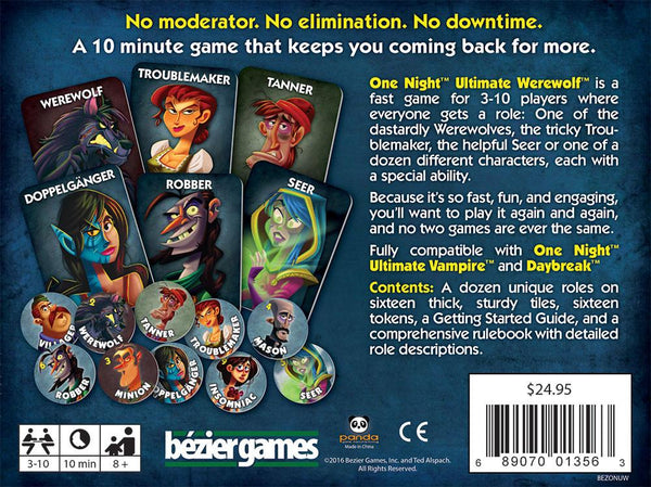 One Night Ultimate Werewolf Board Game - Macronova Games