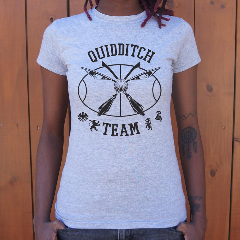 Quidditch Team Snitch T-Shirt (Ladies) Ladies T-Shirt - Macronova Games