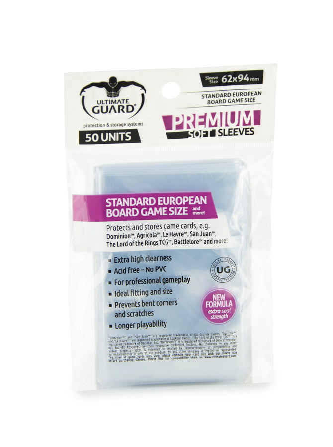 Ultimate Guard Premium Sleeves - Standard European Size (50) Accessory - Macronova Games