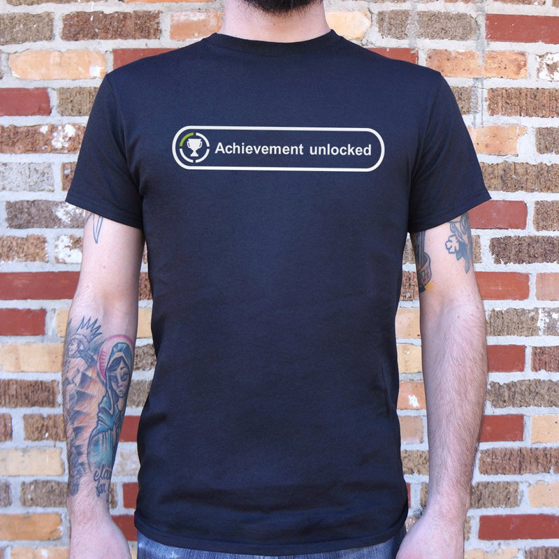 Achievement Unlocked T-Shirt (Mens) Mens T-Shirt - Macronova Games