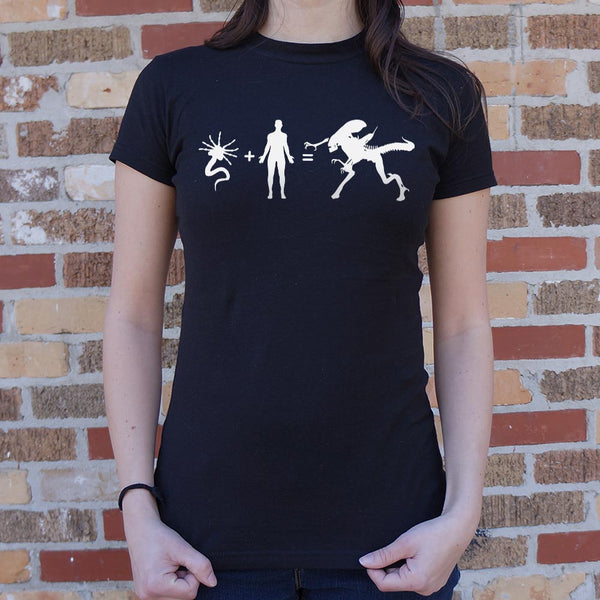 Alien Arithmetic T-Shirt (Ladies) Ladies T-Shirt - Macronova Games