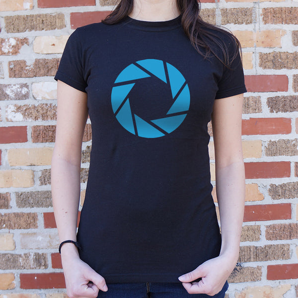 Aperture Labs T-Shirt (Ladies) Ladies T-Shirt - Macronova Games