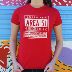 Area 51 T-Shirt (Ladies) Ladies T-Shirt - Macronova Games