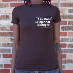 Assistant To The Regional Manager T-Shirt (Ladies) Ladies T-Shirt - Macronova Games