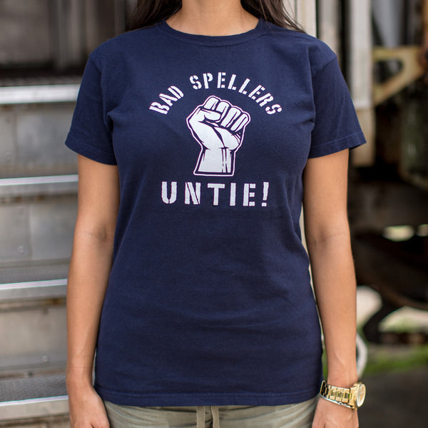 Bad Spellers Untie T-Shirt (Ladies) Ladies T-Shirt - Macronova Games