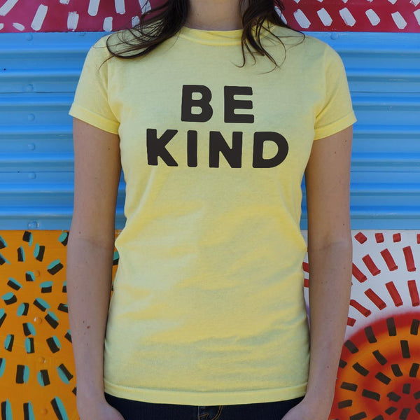 Be Kind Text T-Shirt (Ladies) Ladies T-Shirt - Macronova Games