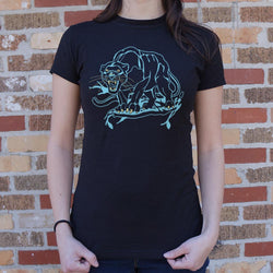 Black Panther T-Shirt (Ladies) Ladies T-Shirt - Macronova Games