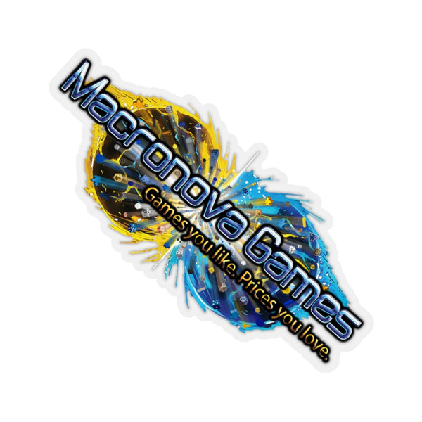 Macronova Games Logo Stickers Paper products - Macronova Games