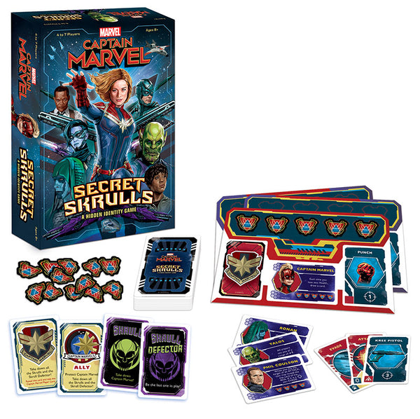 Captain Marvel Secret Skrulls Board Game - Macronova Games