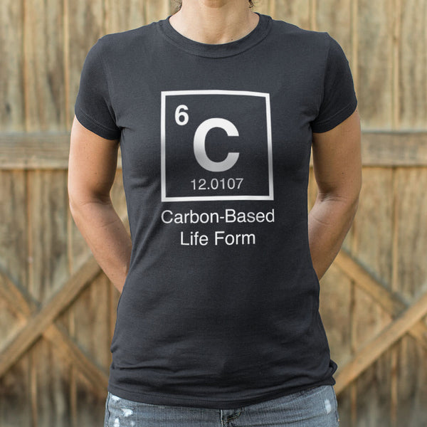 Carbon-Based Life Form T-Shirt (Ladies) Ladies T-Shirt - Macronova Games