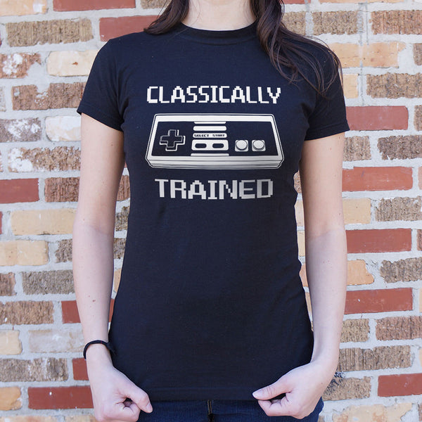 Classically Trained T-Shirt (Ladies) Ladies T-Shirt - Macronova Games