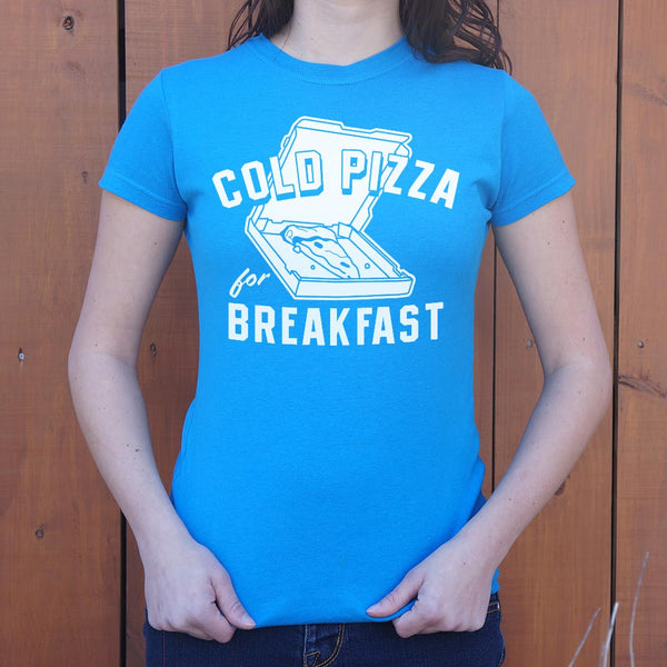 Cold Pizza For Breakfast T-Shirt (Ladies) Ladies T-Shirt - Macronova Games