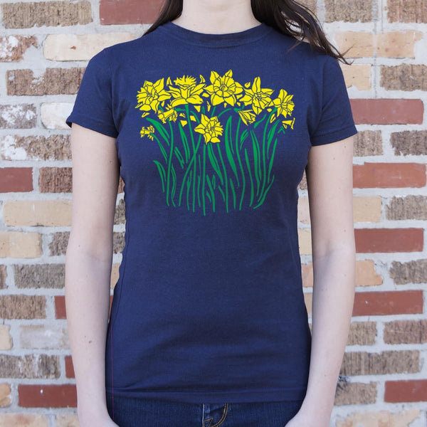 Daffodils T-Shirt (Ladies) Ladies T-Shirt - Macronova Games