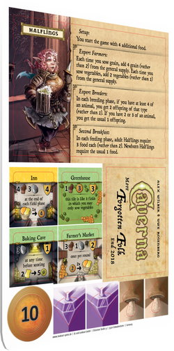 Caverna: The Forgotten Folk - Halflings Promo Board Game - Macronova Games