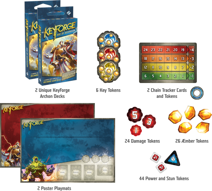 KeyForge: Age of Ascension Two-Player Starter Board Game - Macronova Games