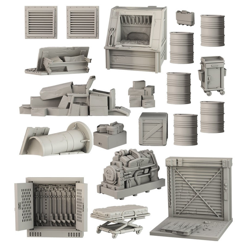 Terrain Crate: Abandoned Factory Accessory - Macronova Games