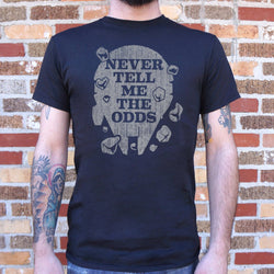 Never Tell Me The Odds T-Shirt (Mens) Mens T-Shirt - Macronova Games