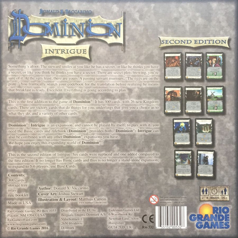 Dominion: Intrigue Second Edition Board Game - Macronova Games
