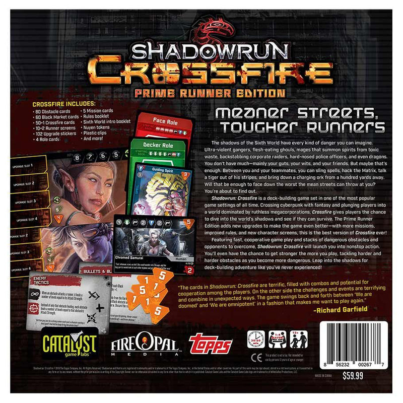 Shadowrun Crossfire DBG: Prime Runner Board Game - Macronova Games