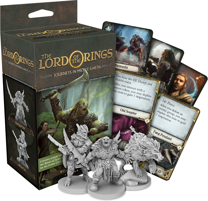 The Lord of the Rings: Journeys in Middle-Earth - Villains of Eriador Figure Pack Board Game - Macronova Games
