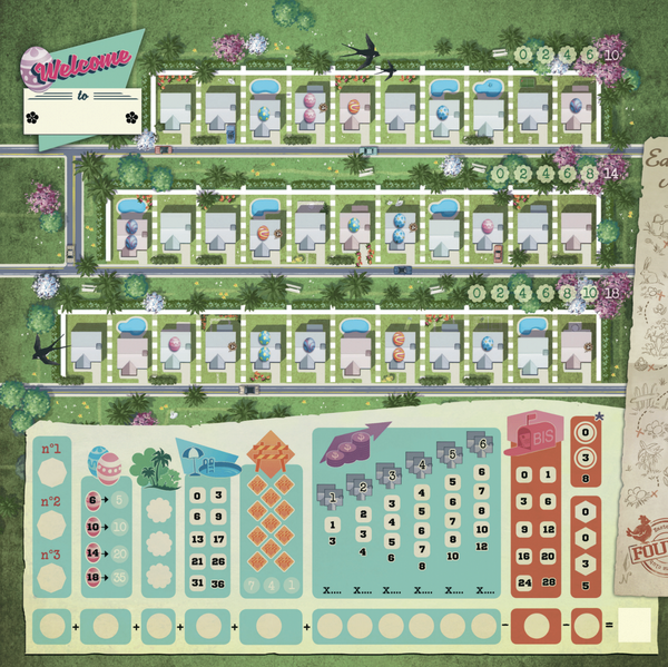 Welcome To...Spring Neighborhood Board Game - Macronova Games