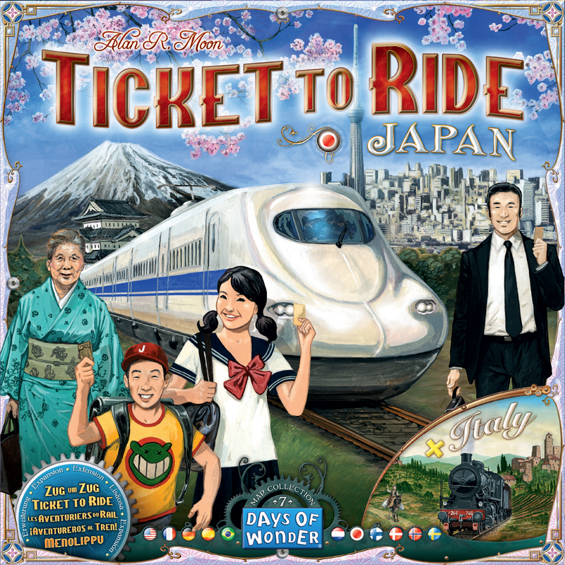 Ticket To Ride: Map Collection V7 - Japan and Italy Board Game - Macronova Games