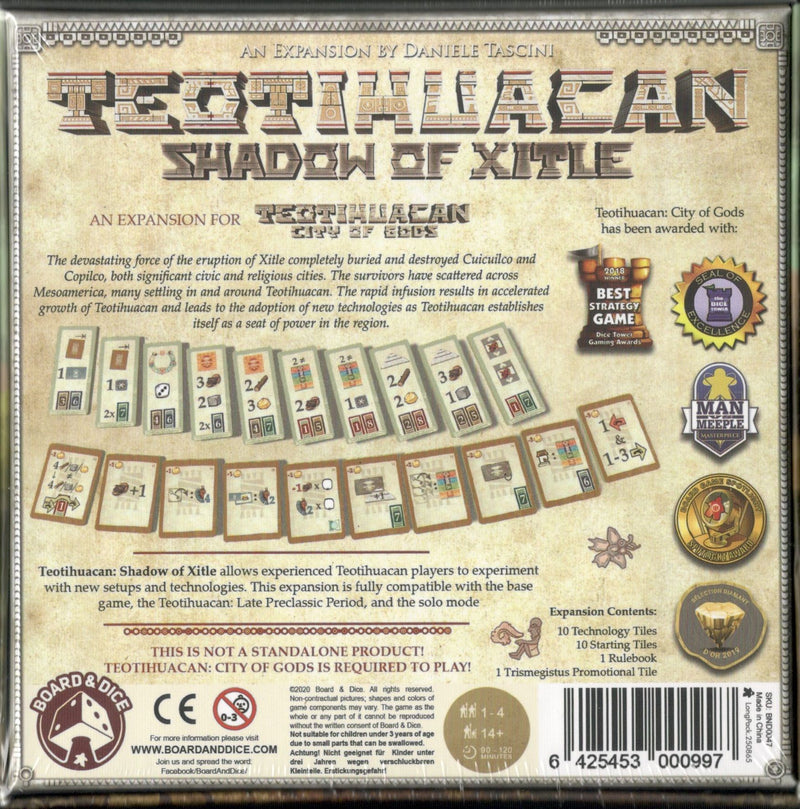 Teotihuacan: Shadow of Xitle Board Game - Macronova Games