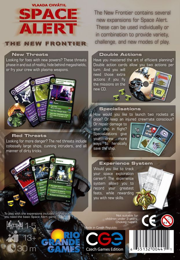 Space Alert: The New Frontier Board Game - Macronova Games