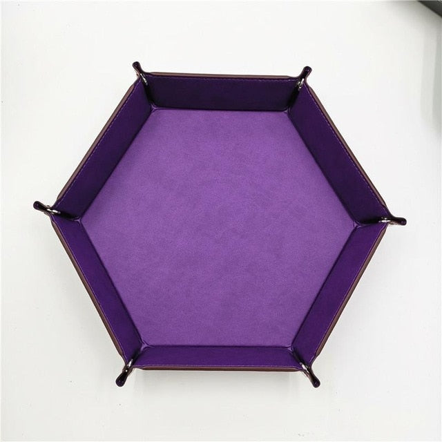 Foldable Leather Dice Trays Accessory - Macronova Games