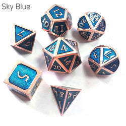7pcs Metal Dice Set Accessory - Macronova Games