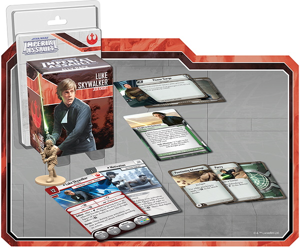 Star Wars: Imperial Assault - Luke Skywalker - Jedi Knight Ally Pack