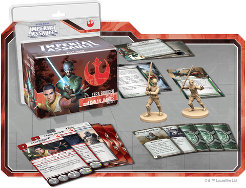 Star Wars: Imperial Assault - Ezra Bridger and Kanan Jarrus Ally Pack Board Game - Macronova Games