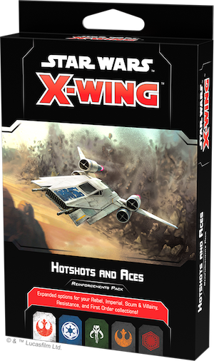 Star Wars X-Wing: 2nd Edition - Hotshots and Aces Reinforcements Pack Board Game - Macronova Games
