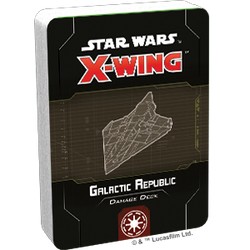 Star Wars X-Wing: 2nd Edition - Galactic Republic Damage Deck Accessory - Macronova Games