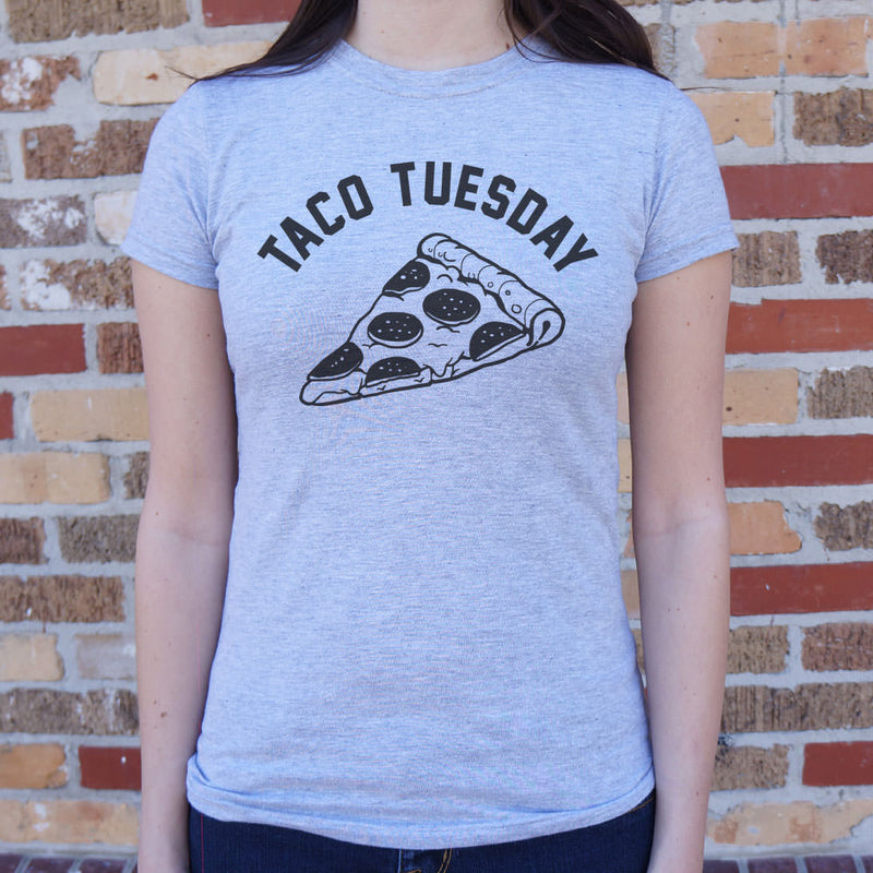 Taco Tuesday Pizza Slice T-Shirt (Ladies) Ladies T-Shirt - Macronova Games