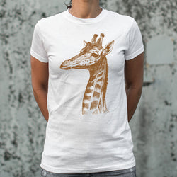 Placid Giraffe T-Shirt (Ladies) Ladies T-Shirt - Macronova Games