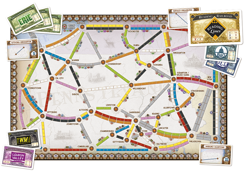 Ticket To Ride: Map Collection V5 - United Kingdom and Pennsylvania Board Game - Macronova Games