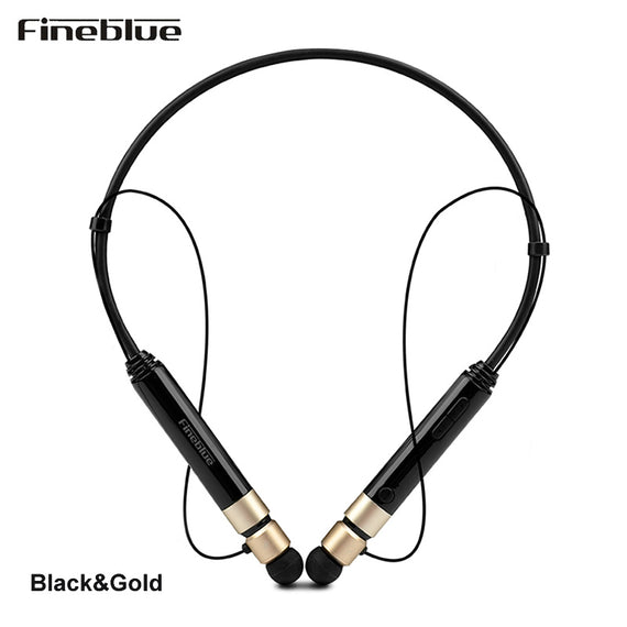 Fineblue F-600i Neckband Sport Bluetooth Earbuds Magnetic Attraction Design