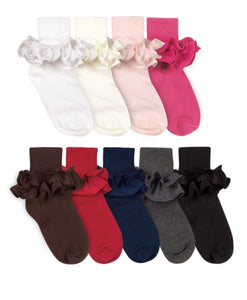 Misty Ruffle Turn Cuff Socks