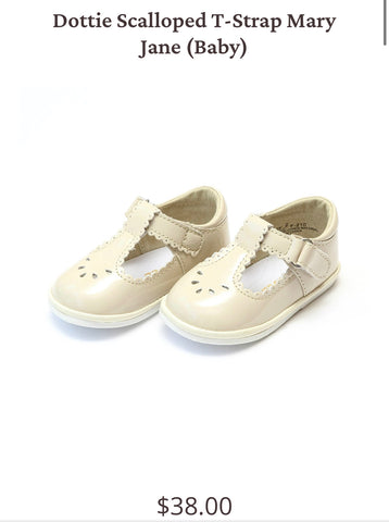 Baby Dottie Scalloped T-Strap MJ