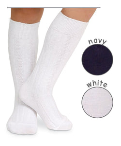 Jefferies Cable Knit Knee Socks