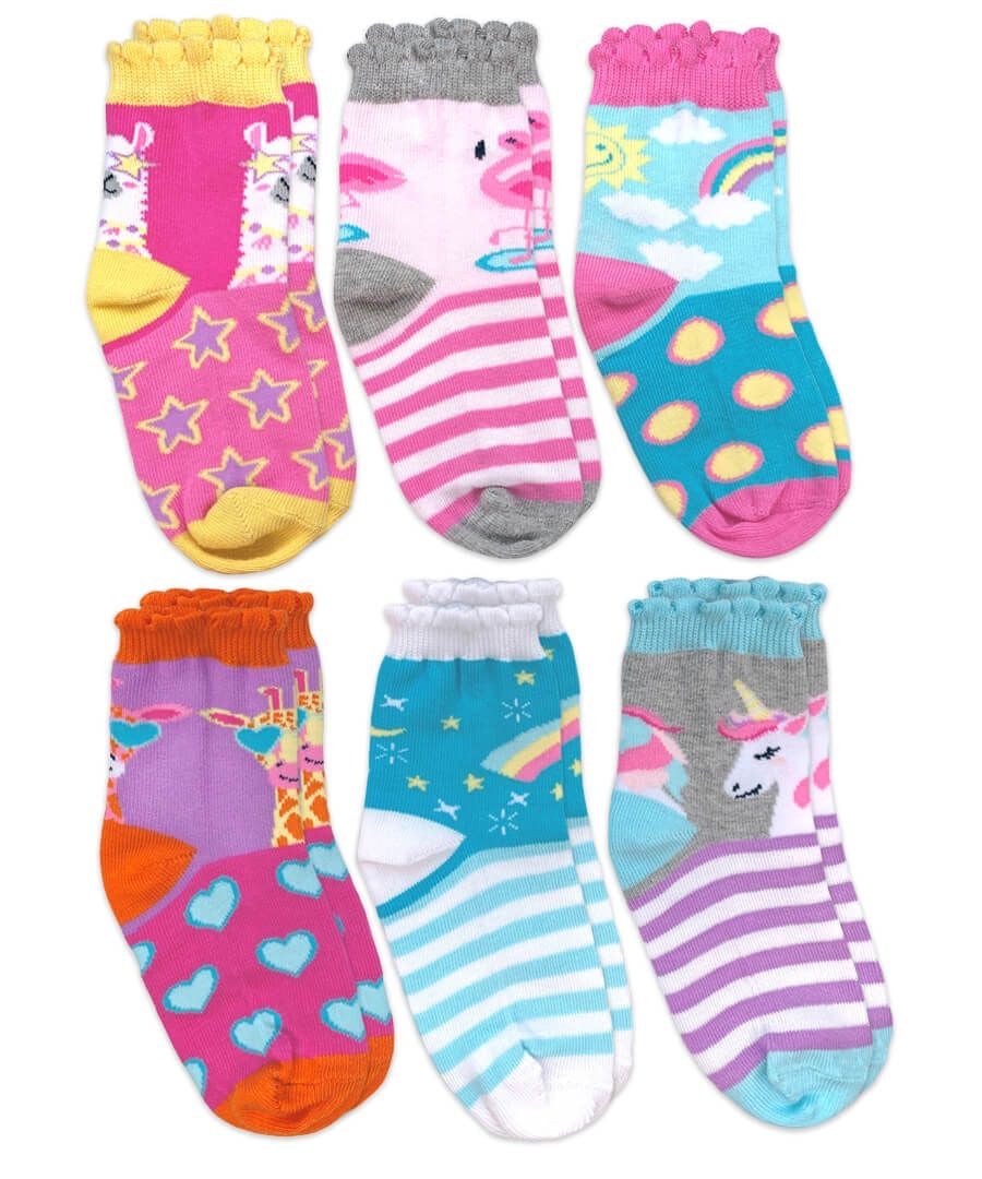 Girls Jefferies Socks 6 pack