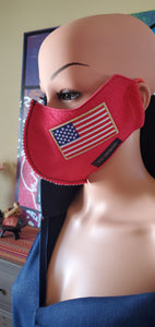 ADULT VGC FACE-MASK PATRIOTIC