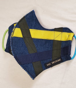 ADULT VGC FACE-MASK DENIM WEBBING