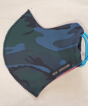 ADULT VGC FACE-MASK GREEN BLUE CAMOUFLAGE
