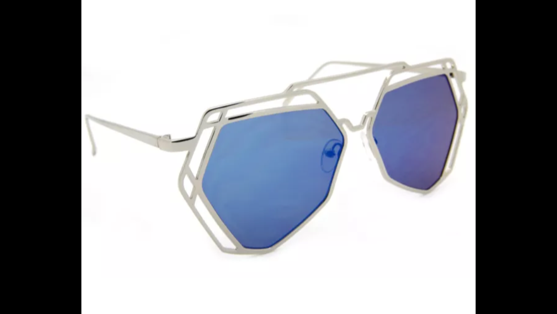 ART NOUVEAU VICTORIAN MIRRORED SUNGLASSES