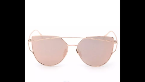 FLAT LENSE REFLECTIVE MIRROR METAL SUNGLASSES