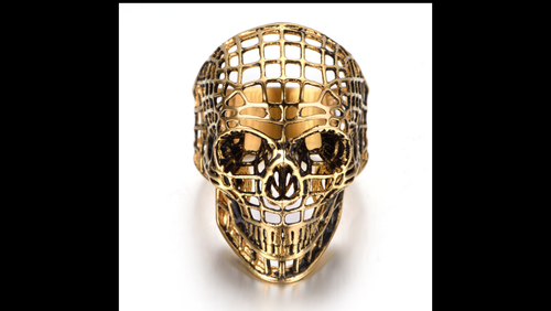EXO-SKELETON HOLLOW SKULL RING