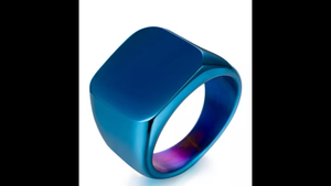 SQUARE POLISHED BAND RING