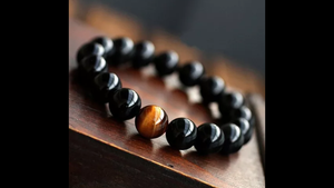 AGATE BLACK BALL BRACELET